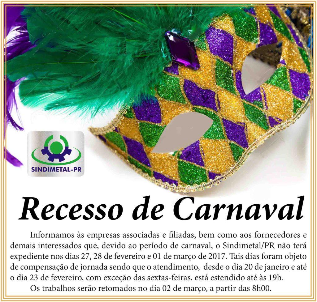 RECESSO DE CARNAVAL 2