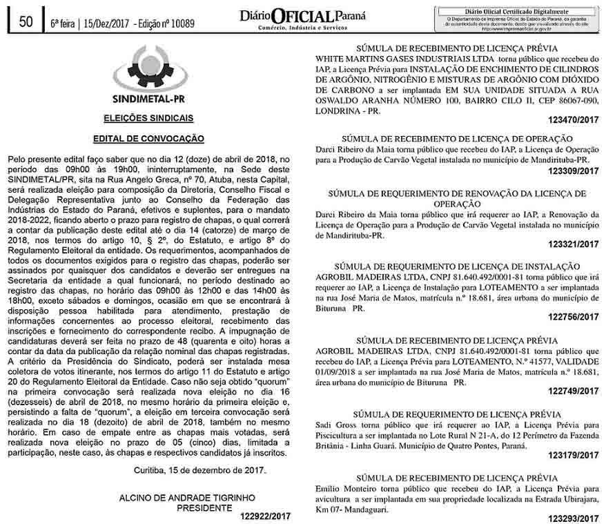 Diario Oficial 15-12-2017