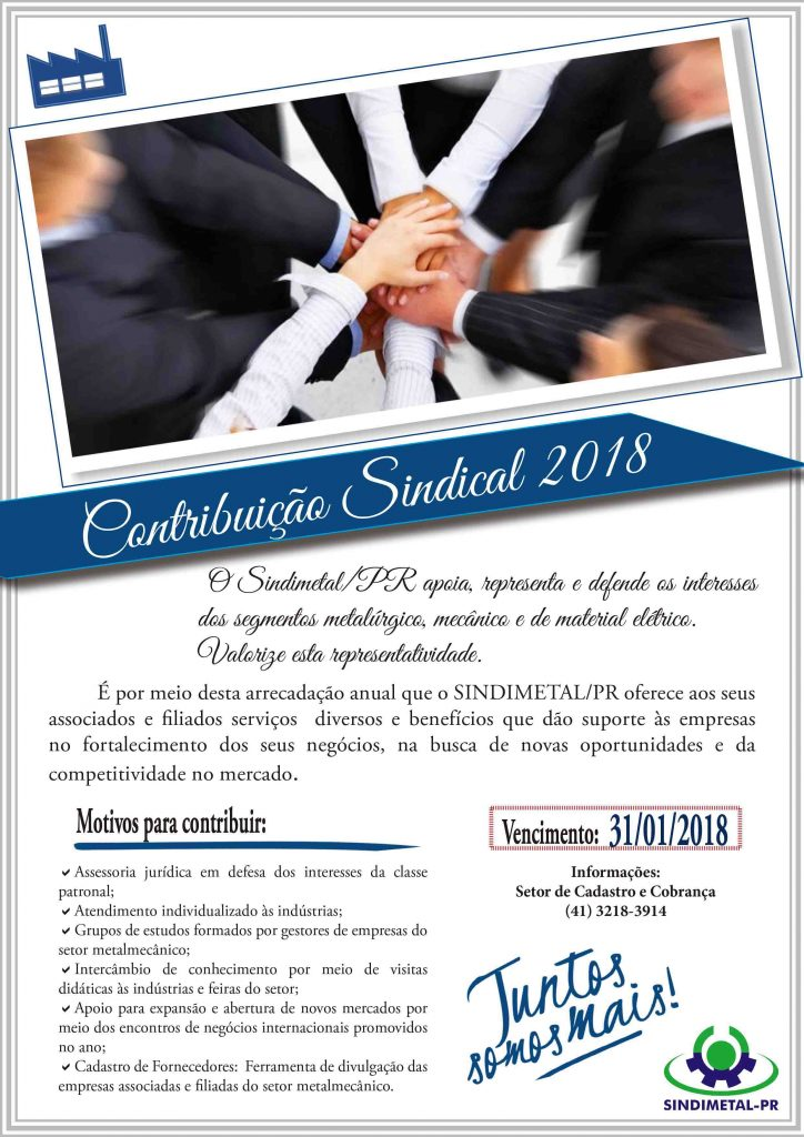 Email CONTRIBUICAO SINDICAL 2018